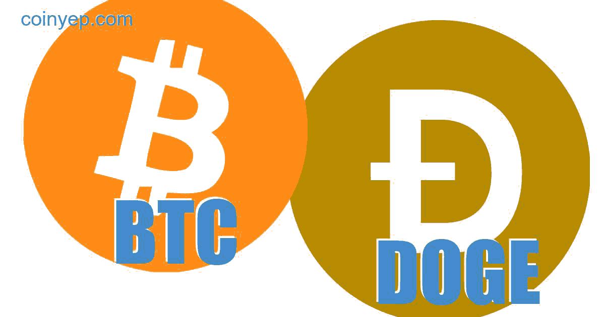 Bitcoin (BTC) ir DogeCoin (XDG) Valiutos kursas konversijos skaičiuoklė