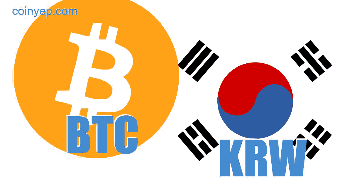 1 btc a krw-hez
